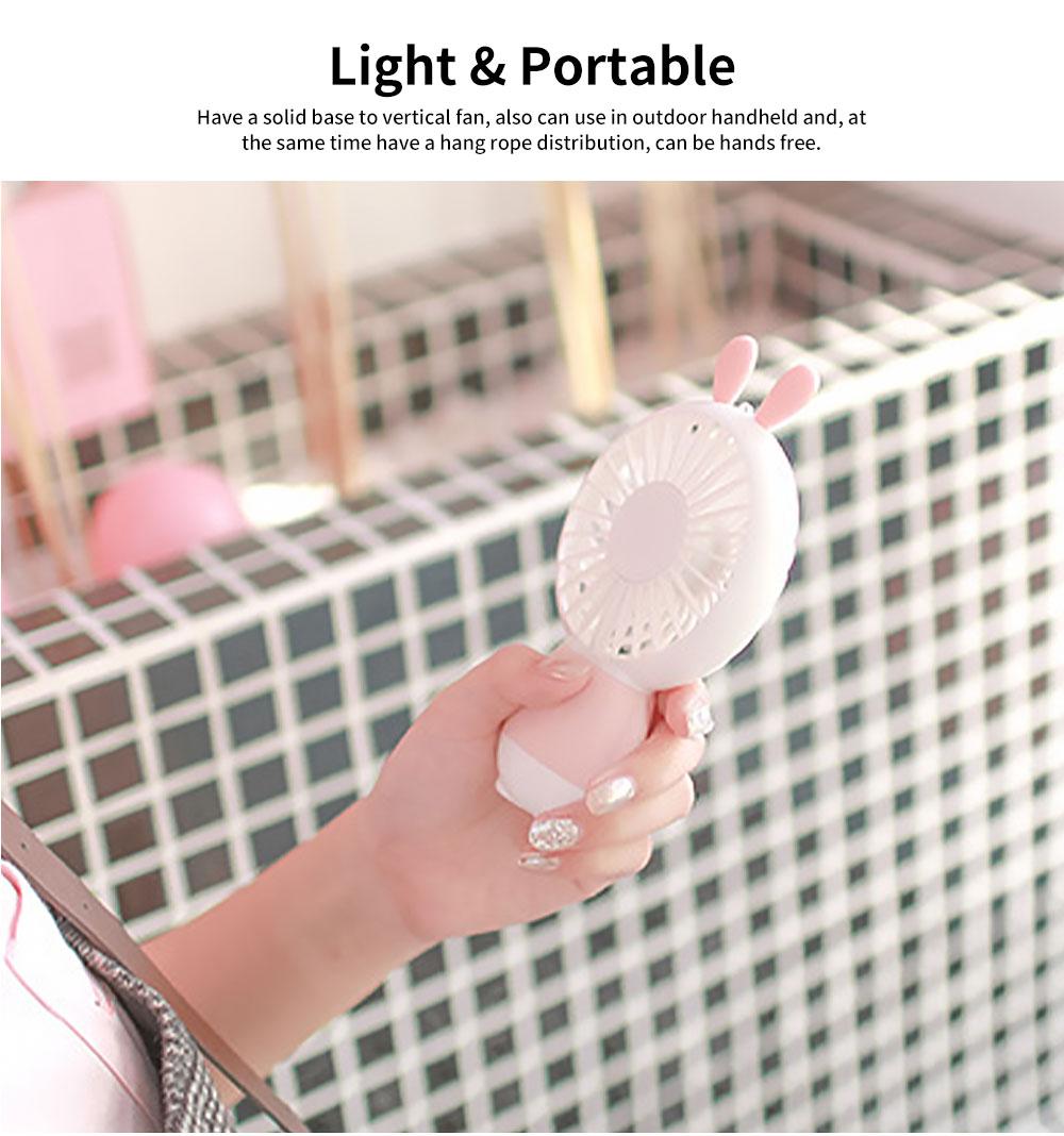 New Rabbit Mini Handheld Fan, Dharma Bear Night Light USB Charging Fan, Outdoor Compact and Convenient Electric Fan 1