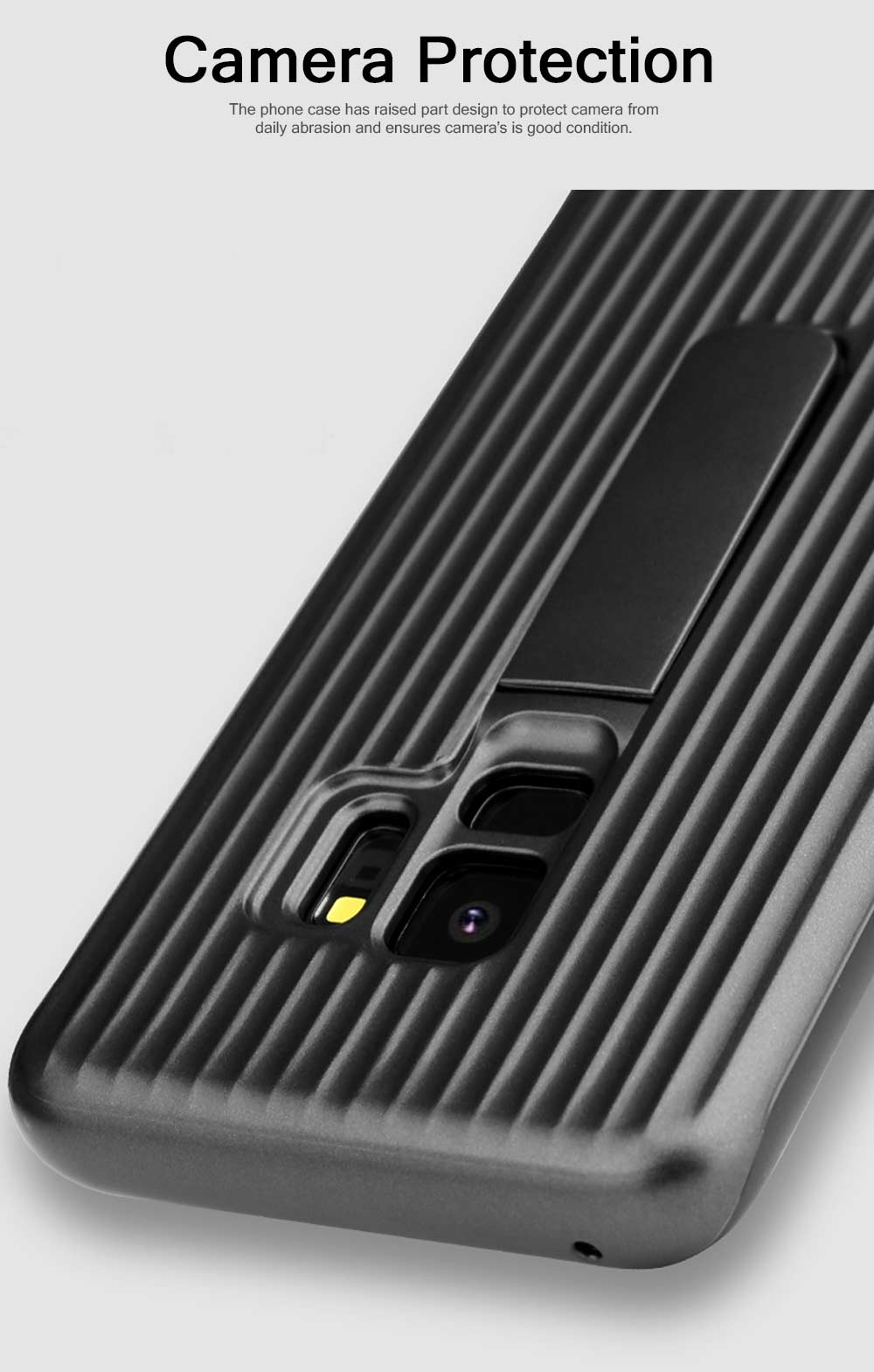 New-style Samsung Phone Case for Galaxy S9 & S9 Plus Vehicle-Mounted Protective Case Vertical Support Phone Case 4