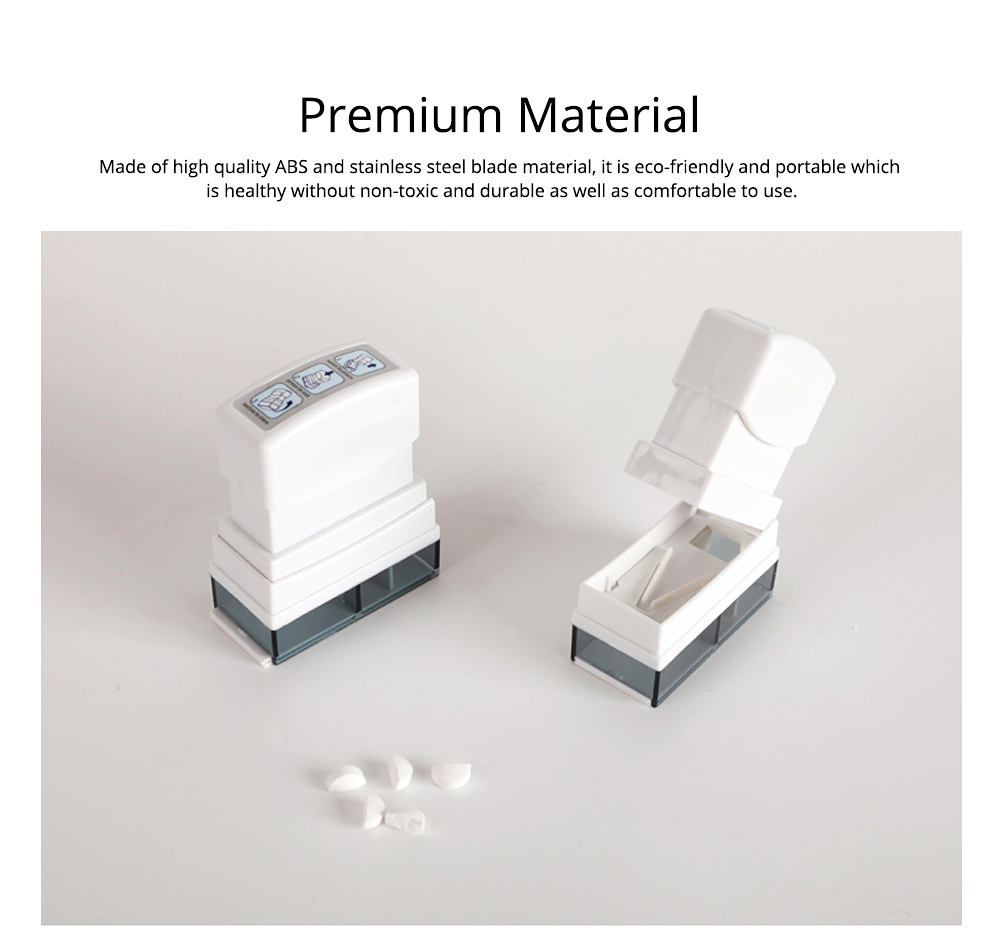 Ultra Pill Cutter Seal Medicine Box Splitter, Safety Medicine Tablet Cutter For Cutting Small and Large Pills In Half 1