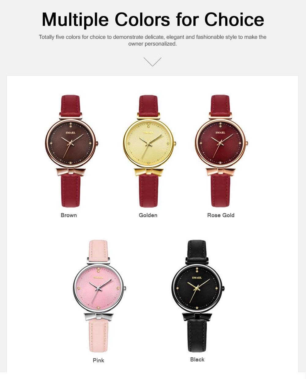 Korean Style Luminous Quartz Watch Female, Waterproof Multifunctional Luminous Quartz Watch with Stretch Band 5