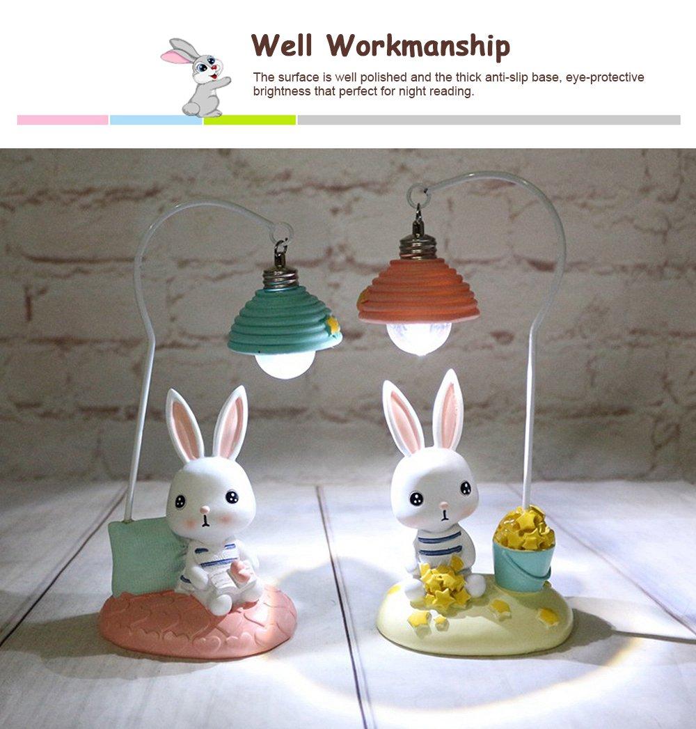 Cartoon Rabbit Night Light Resin Mini LED Night Lamp Home Decoration Creative Resin Ornaments 4