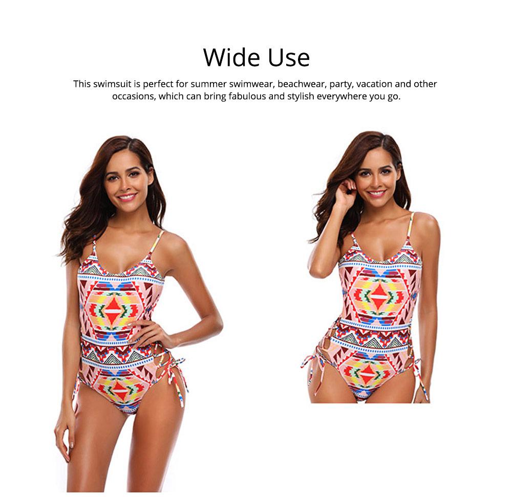 Backless Sexy Swimsuit One-piece Cutout Sexy Bikini Skin-friendly and Comfortable Swimwear 5