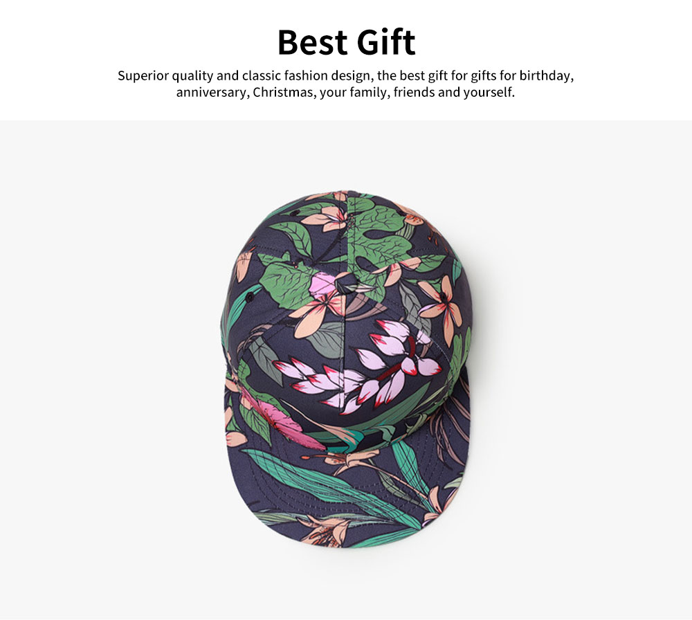 Unisex 3D Floral Print Baseball Hat Breathable Fashion Summer Hat Snap Back Hip Pop Baseball Caps for Travel Running 5