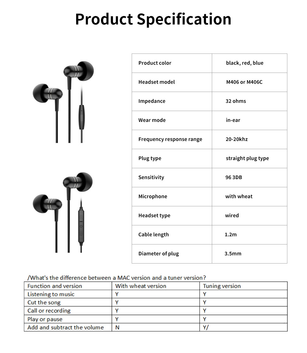 Subwoofer In-ear Headphones, High-quality Subwoofer Noise-reducing Earphone, Headphones for Notebook Wired Singing 6