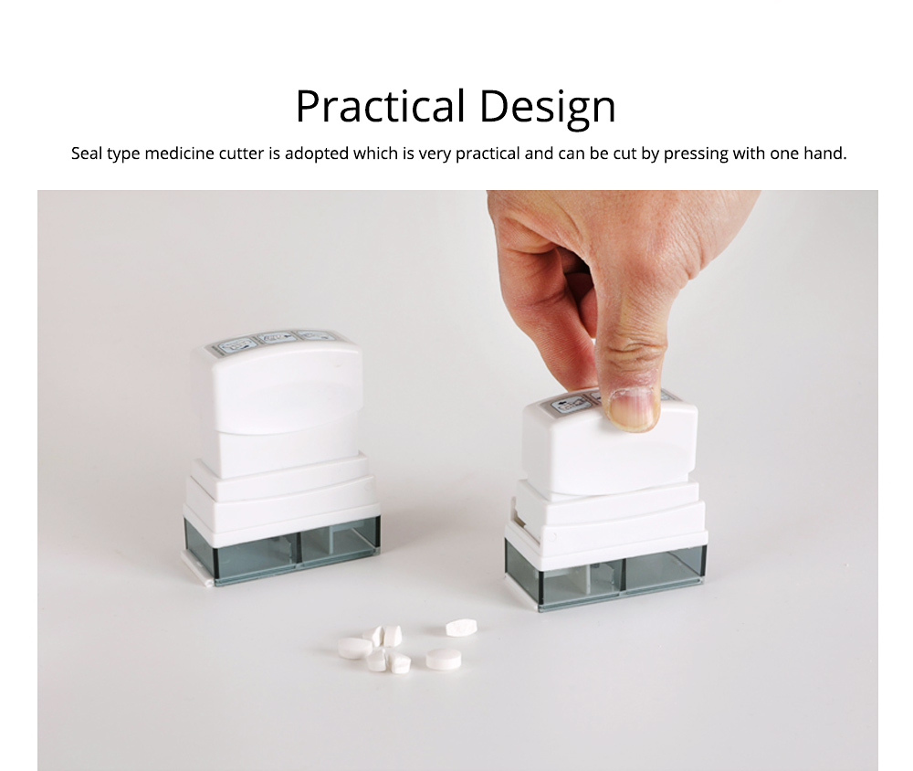 Ultra Pill Cutter Seal Medicine Box Splitter, Safety Medicine Tablet Cutter For Cutting Small and Large Pills In Half 2