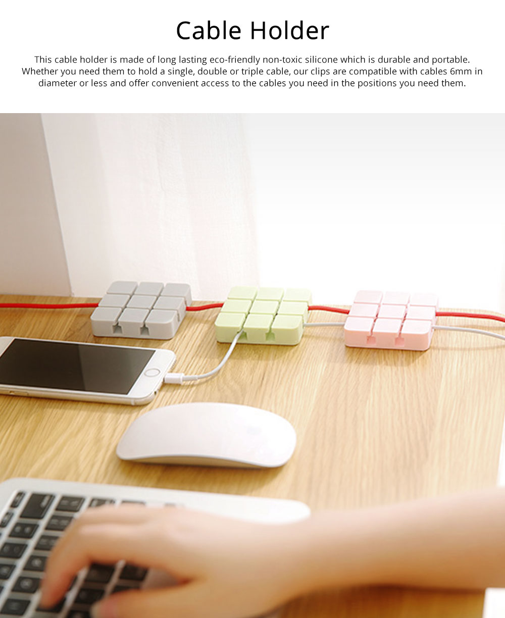 Mini Silicone Cable Management Wire Holder Adhesive Charging Cable Storage Hub Home Office Car Desk Accessories 0