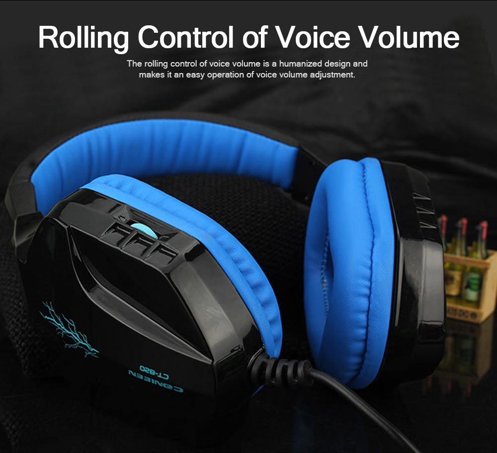 Headset with Microphone for Gaming Headset Luminous Headset Mega Bass Headphone Crack Luminous Headphone 5