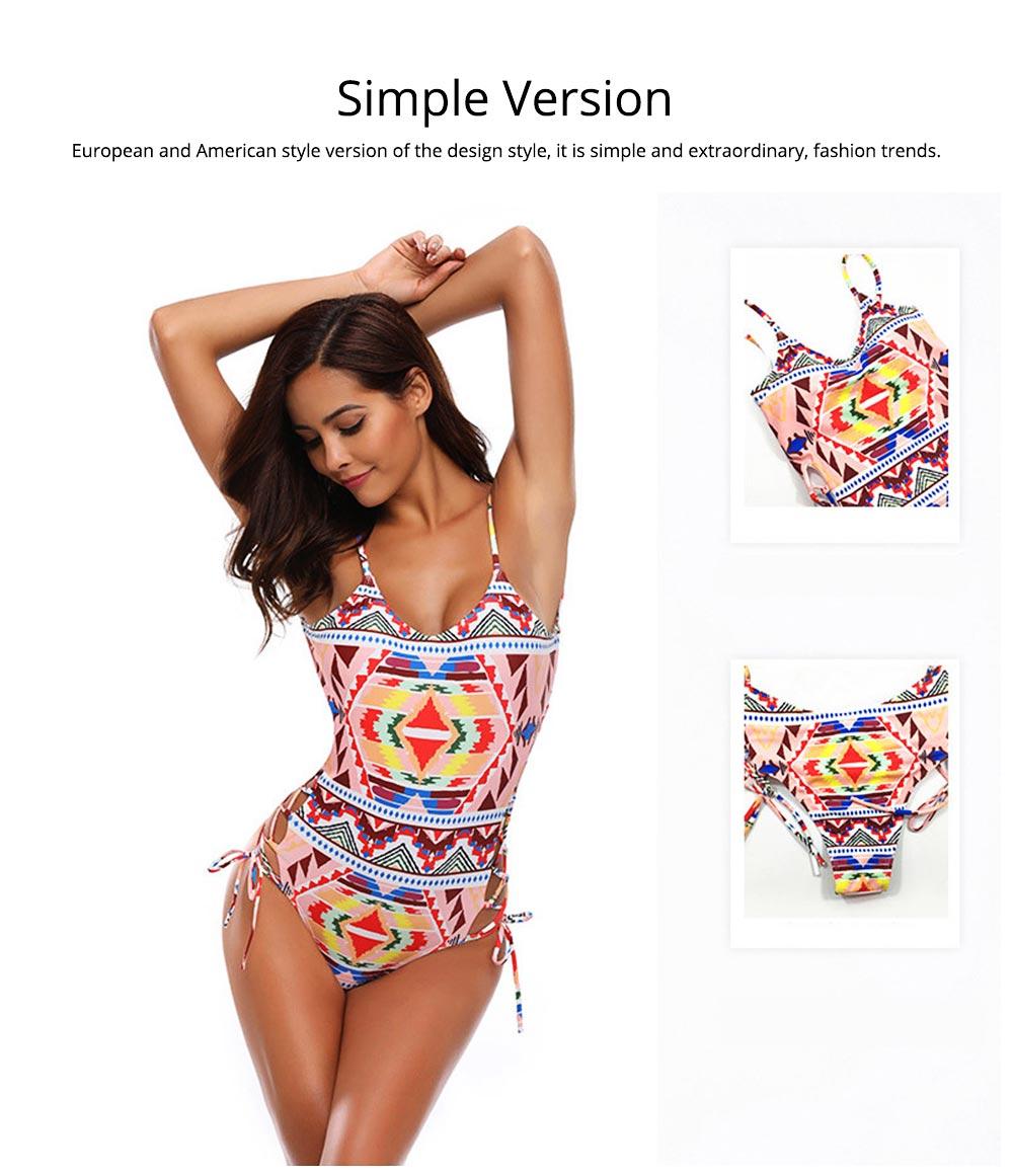 Backless Sexy Swimsuit One-piece Cutout Sexy Bikini Skin-friendly and Comfortable Swimwear 2