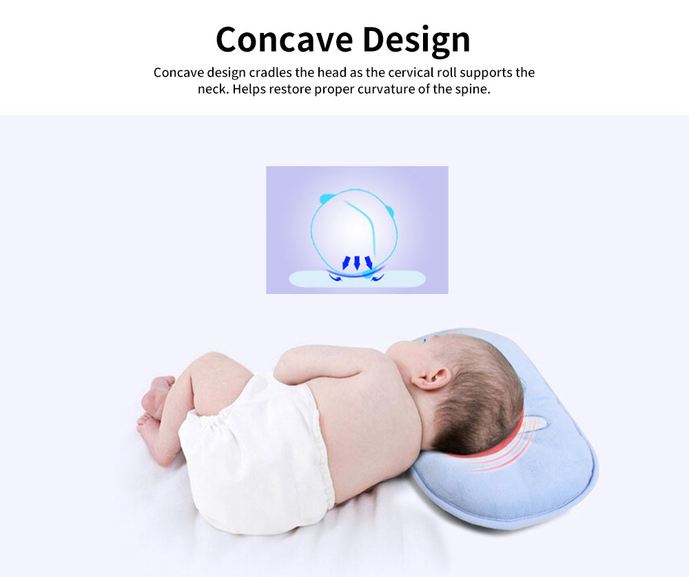 Baby Head Shaping Pillow 100% Cotton Newborn Pillow Flat Head Support Head Syndrome Prevention Pillow 1