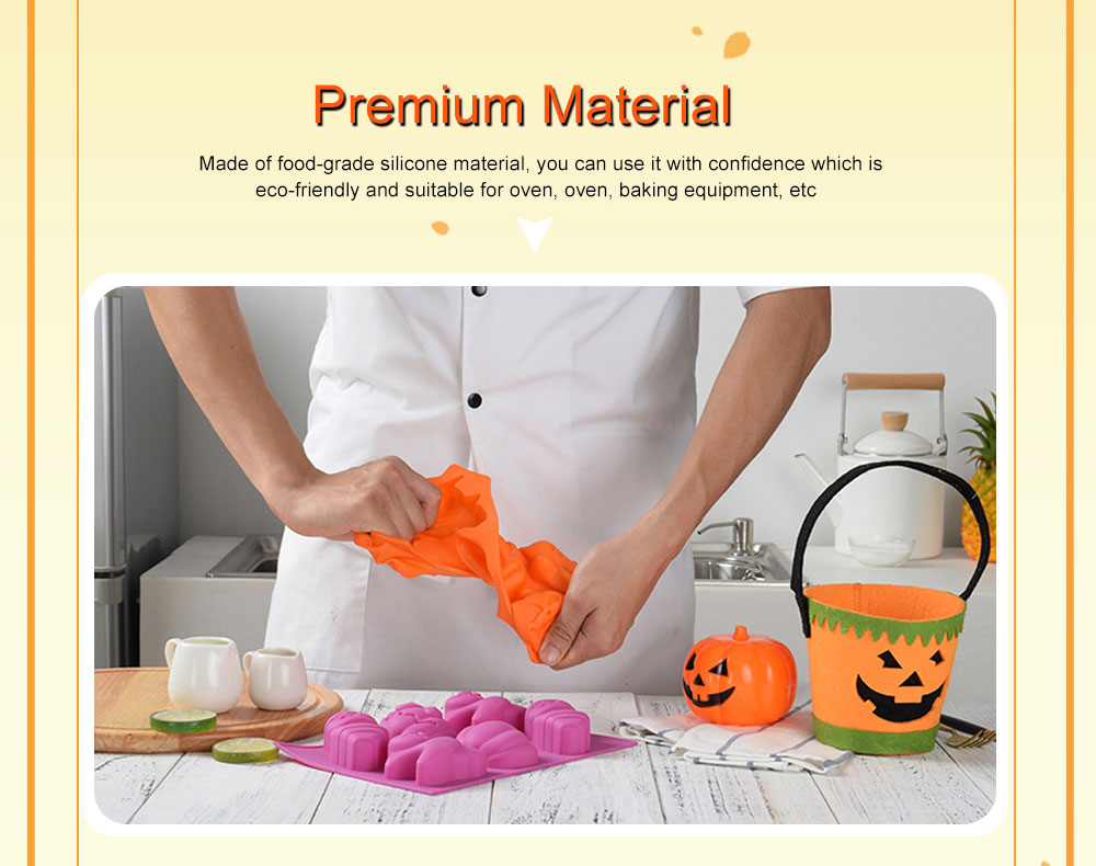 Silicone Cake Mould with Portable Hole, Halloween Style Baking Cake Mold, High Temperature DIY Baking Utensils 2
