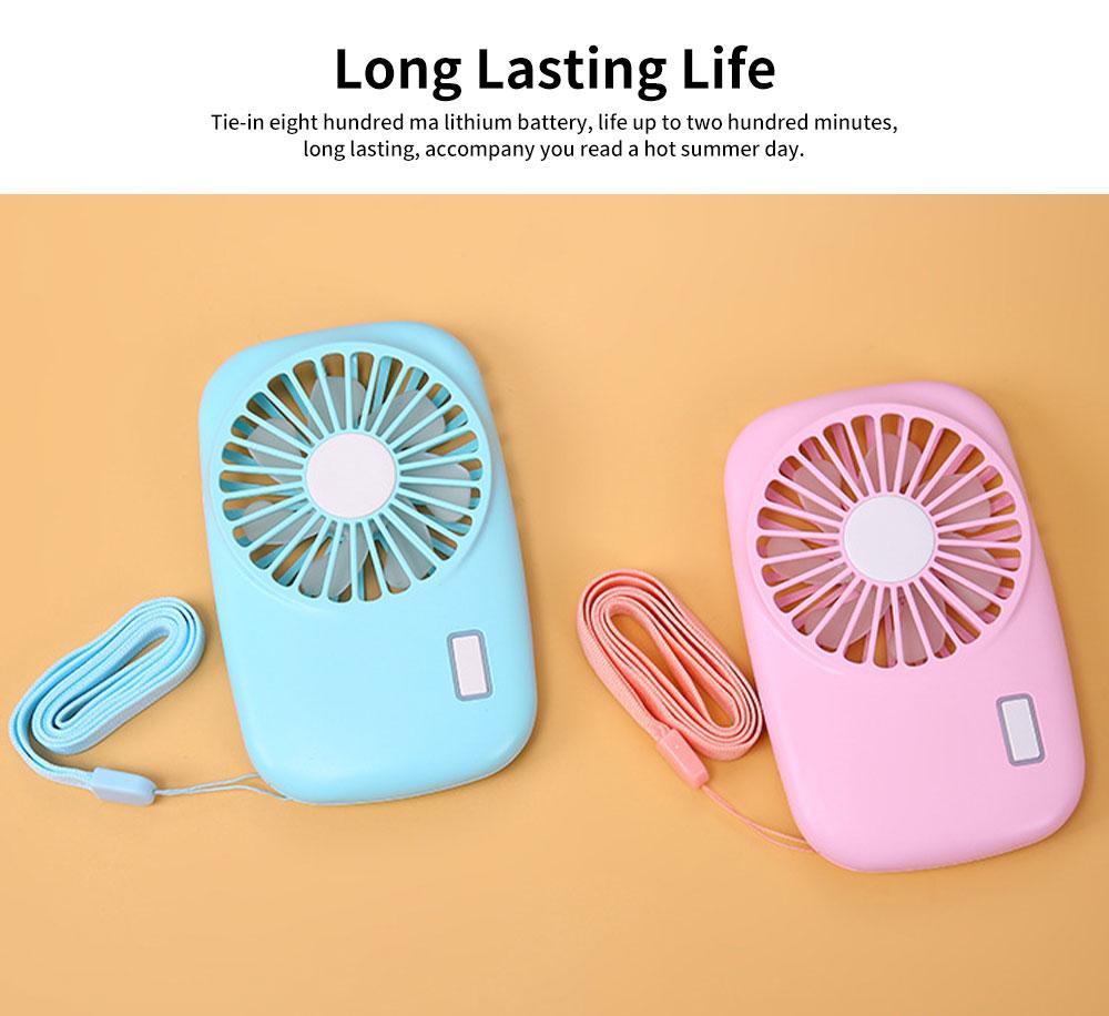 USB Rechargeable Camera Fan, Outdoor Portable Pocket Fan, Ultra-thin Handheld Mini Fan, Silent Compact Fan 2