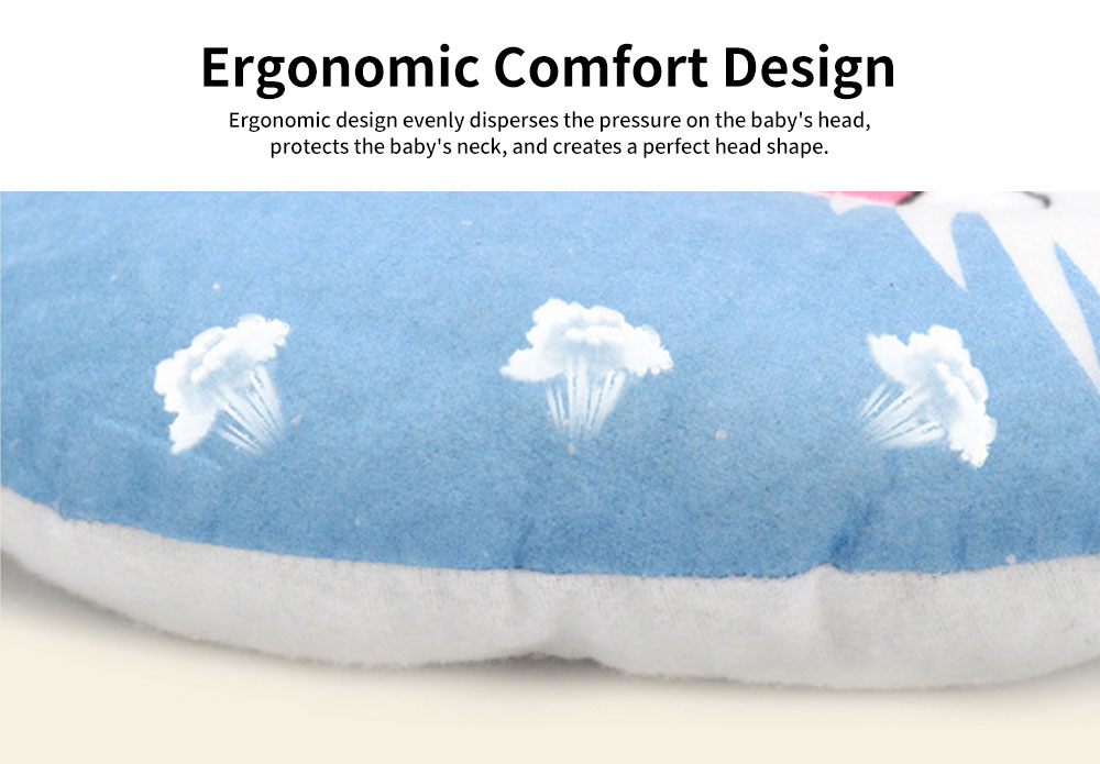 Baby Pillow Breathable Organic PP Cotton Newborn Head Shaping Pillow Flat Head Syndrome Prevention and Head Support Pillow 1