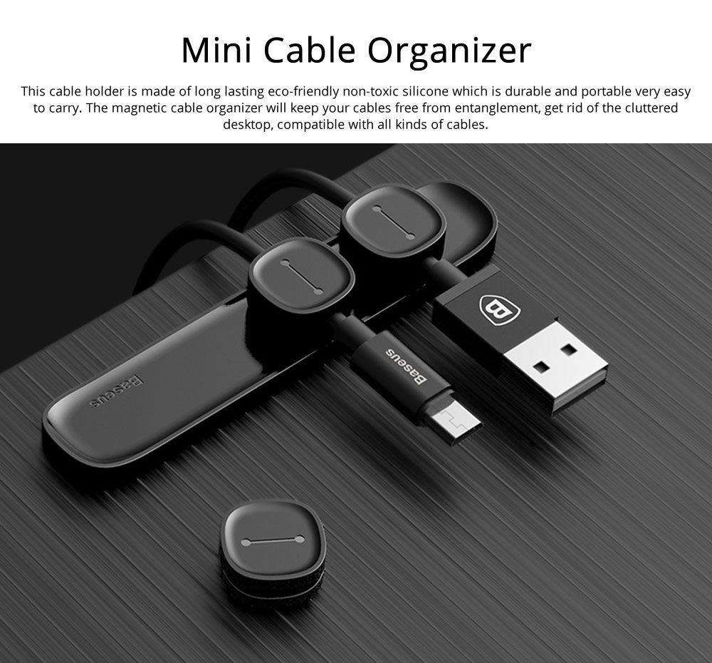 Magnetic Cable Organizer Mini Silicone Desktop Cord Management Multipurpose Magnetic Cable Clips For Car Office Home 0