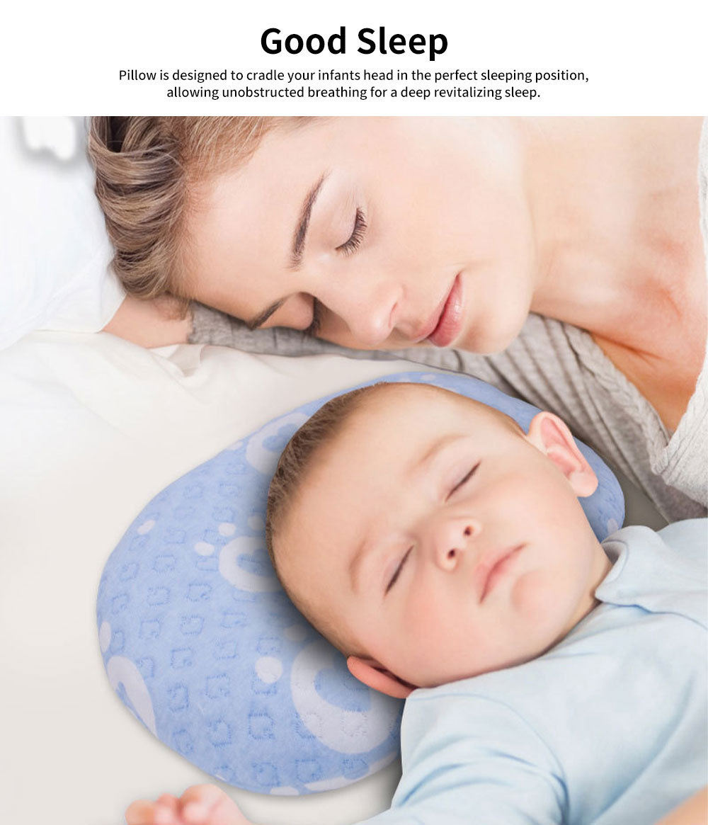 Newborn Baby Head Shaping Pillow Breathable Organic PP Cotton Baby Accessories Flat Head Syndrome Prevention and Head Support Pillow 2