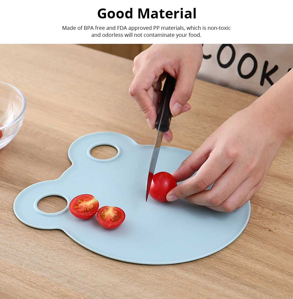 Cartoon Cutting Board Non-slip Anti-Bacterial PP Plastic Chopping Board for Meat Fruit and Vegetable 4