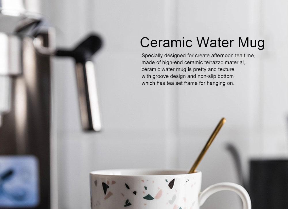 Nordic Celebrity Terrazzo Mug with Big Head, Household Coffee Mug Office Ceramic Water Mug 0