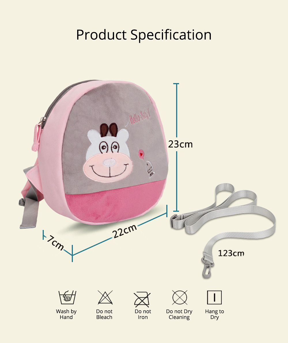 Mini Baby Cartoon Bag for Preventing Lost, Children's Backpack with Anti-loss Traction Cord 8