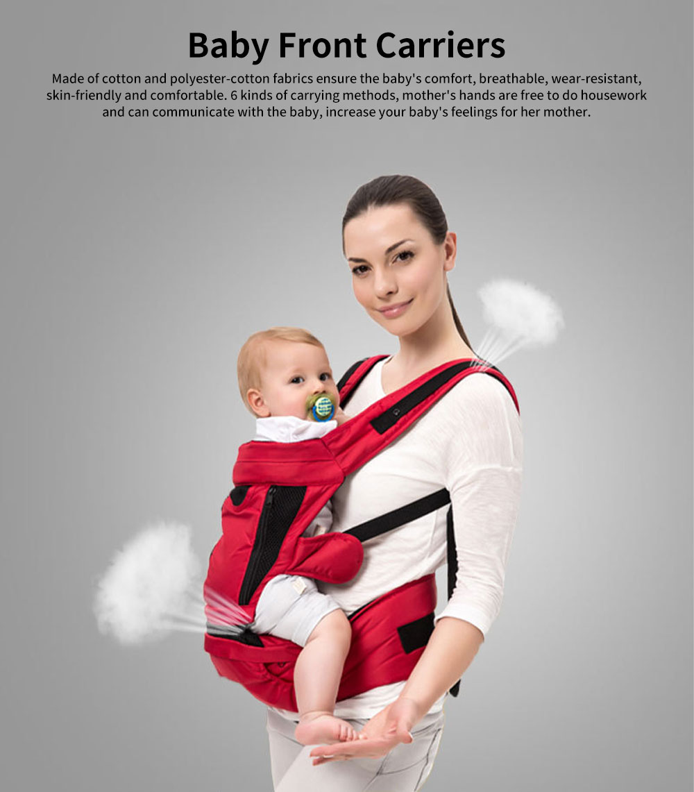 Front Carriers Baby Waist Stool Multifunctional Comfortable 4 Seasons Universal Detachable Baby Carriers Backpack 0