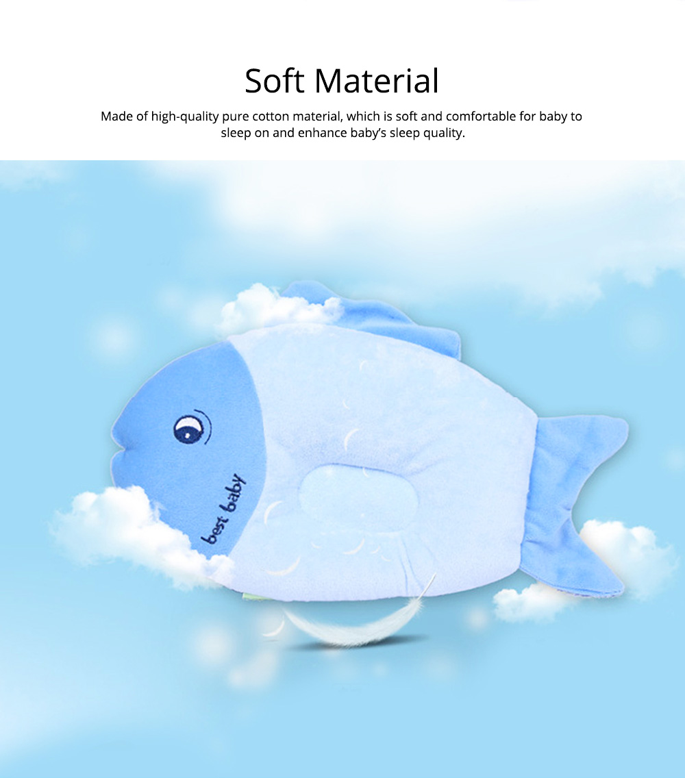 Fish-design Cotton Baby Pillow, Head-shaping Pillow for Preventing Plagiocephaly 1