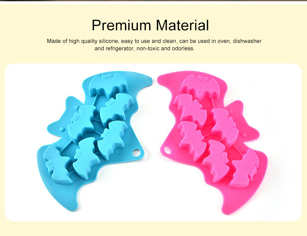 Creative Bat Ice Cube Silicone Iced Pudding Jelly Mould Bat Chocolate Mould Freeze Molding 1