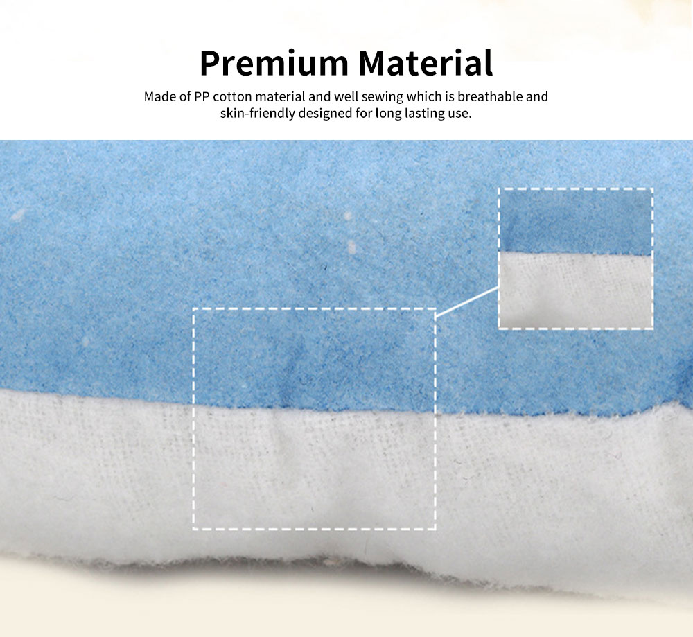Baby Pillow Breathable Organic PP Cotton Newborn Head Shaping Pillow Flat Head Syndrome Prevention and Head Support Pillow 3