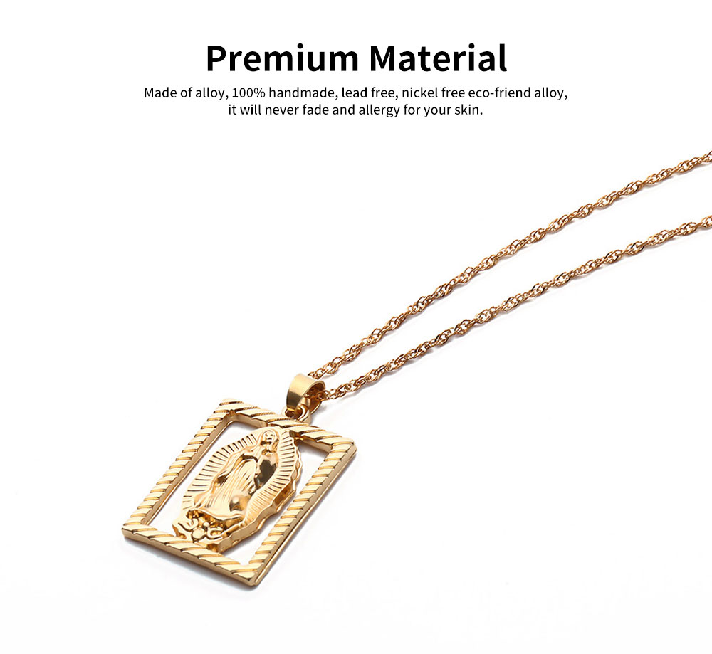 Sweater Chain Simple Hollow Out Versatile Sweater Necklace Fashion Pendant Necklaces for Woman 3
