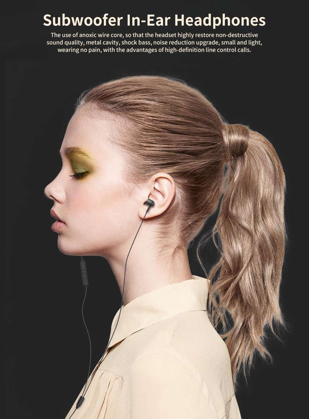 Subwoofer In-ear Headphones, High-quality Subwoofer Noise-reducing Earphone, Headphones for Notebook Wired Singing 0