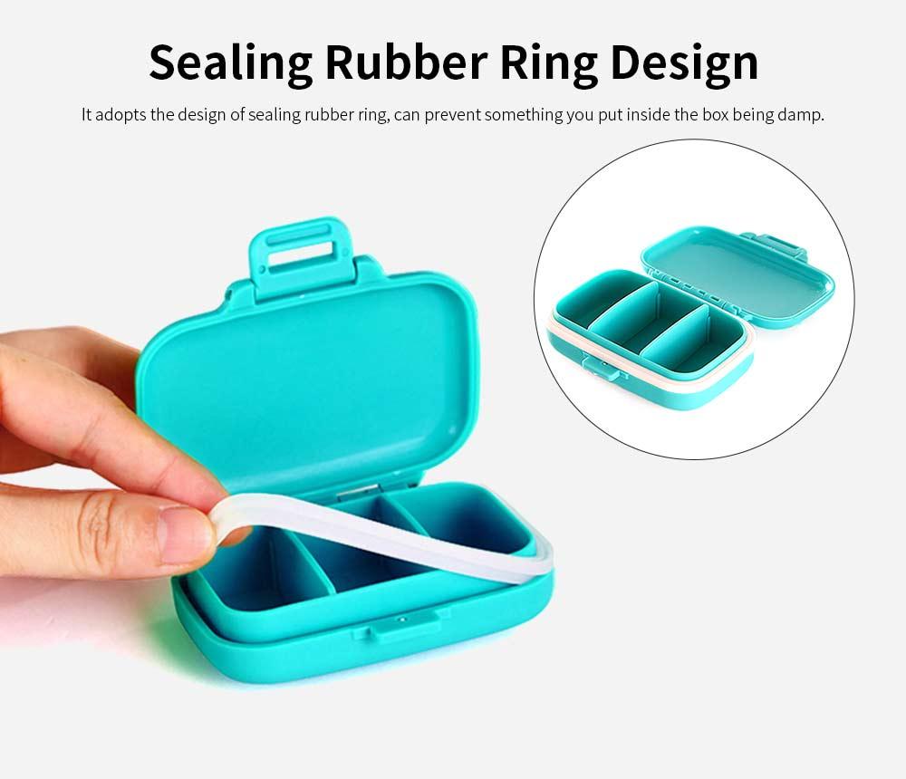 Food Grade Odorless Medicine Box, Sealed Gasket Pill Case, Detachable Insert Weekly Pill Box for Elderly Children Office Worker 2