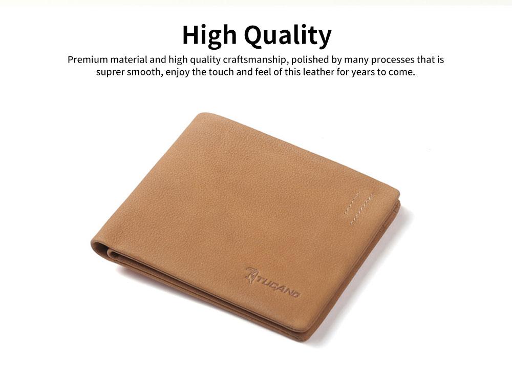 Men's Wallet RFID Blocking Genuine Leather Wallets Slim Bifold Top Flip Money Card Clip Gifts for Male Men 1