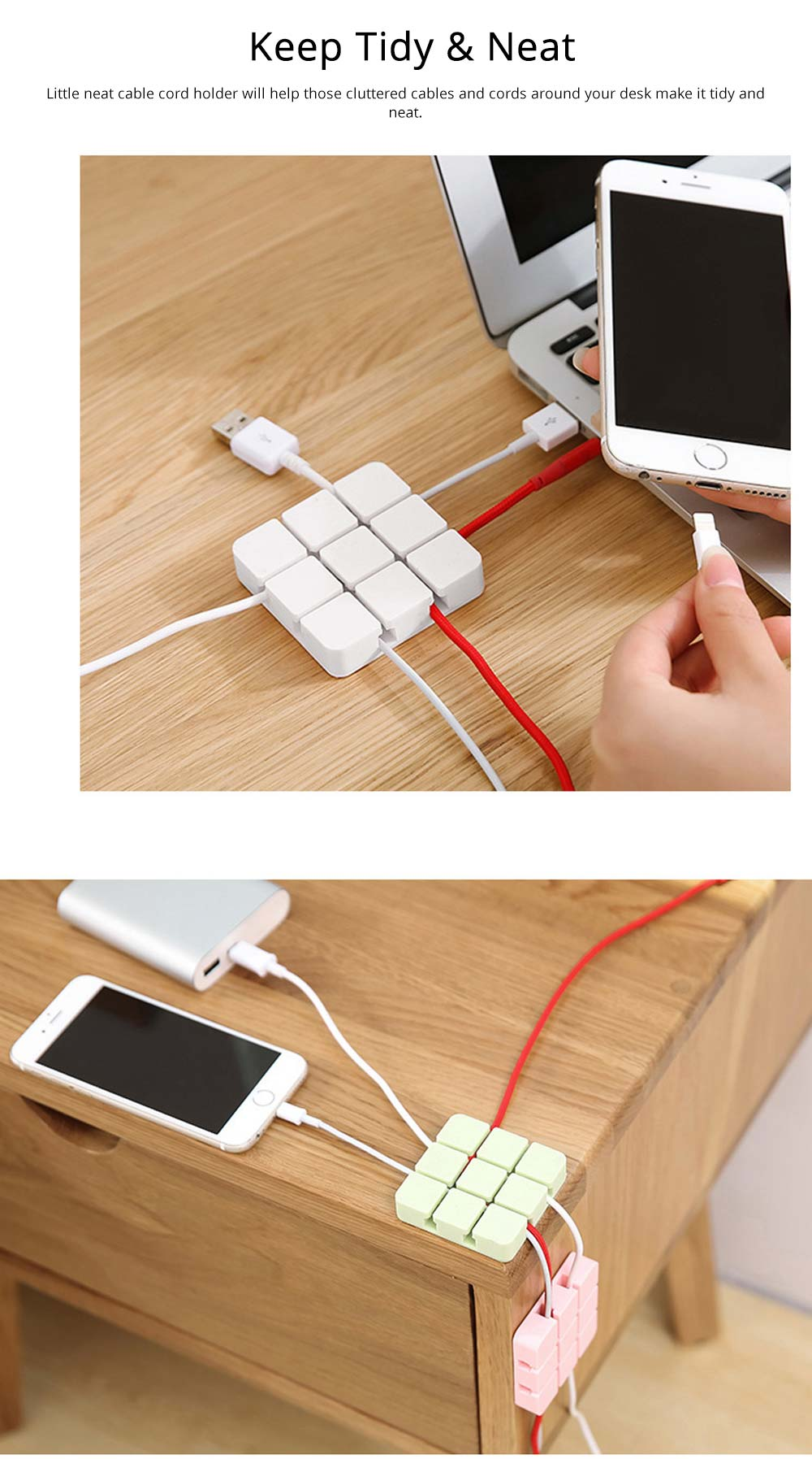 Mini Silicone Cable Management Wire Holder Adhesive Charging Cable Storage Hub Home Office Car Desk Accessories 3