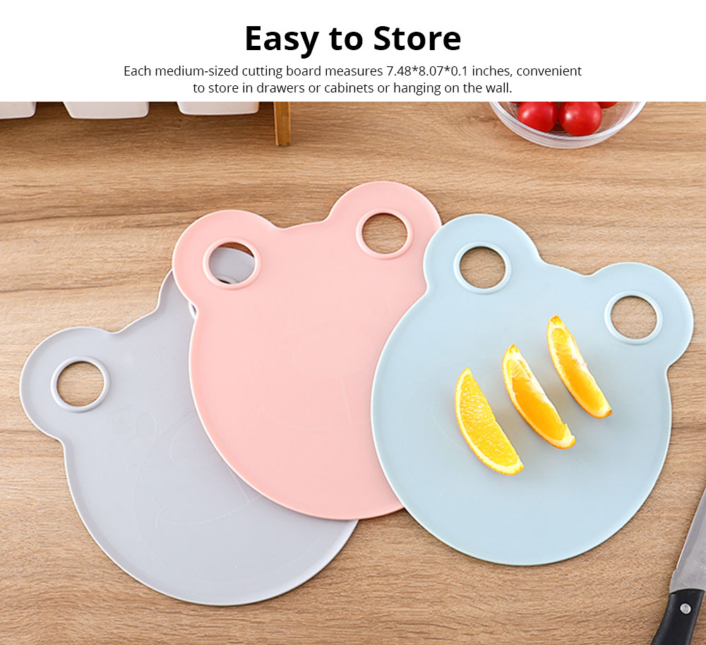 Cartoon Cutting Board Non-slip Anti-Bacterial PP Plastic Chopping Board for Meat Fruit and Vegetable 3