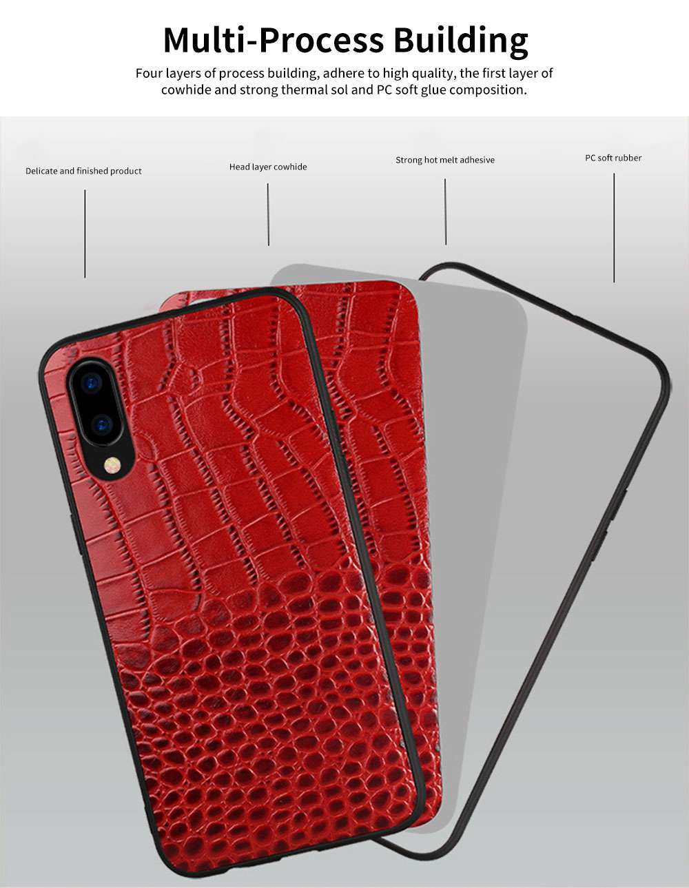 Classic Leather Phone Case for Vivo x21, Anti-fall Mobile Phone Case for X20 plus, Non-slip Full-pack Case for Vivo X23 2