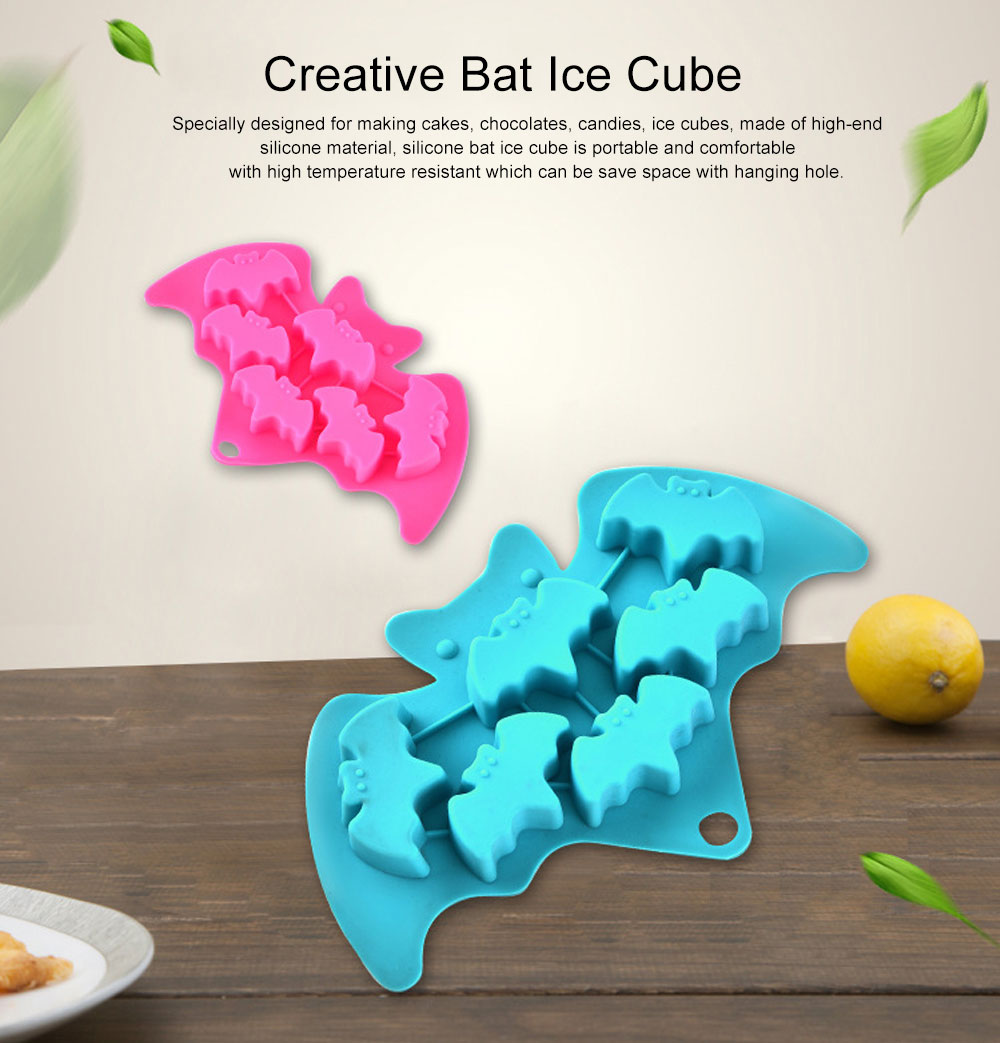 Creative Bat Ice Cube Silicone Iced Pudding Jelly Mould Bat Chocolate Mould Freeze Molding 0