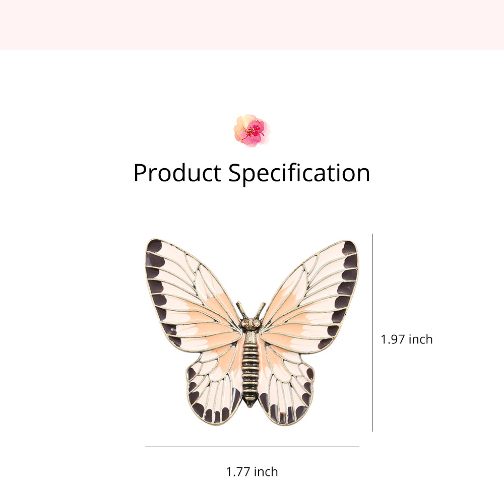 Stylish Atmosphere Butterfly Cartoon Insect Brooch for Ladies, Diamonds Drilling Dripping Clothes Accessories Decoration Breastpin 6