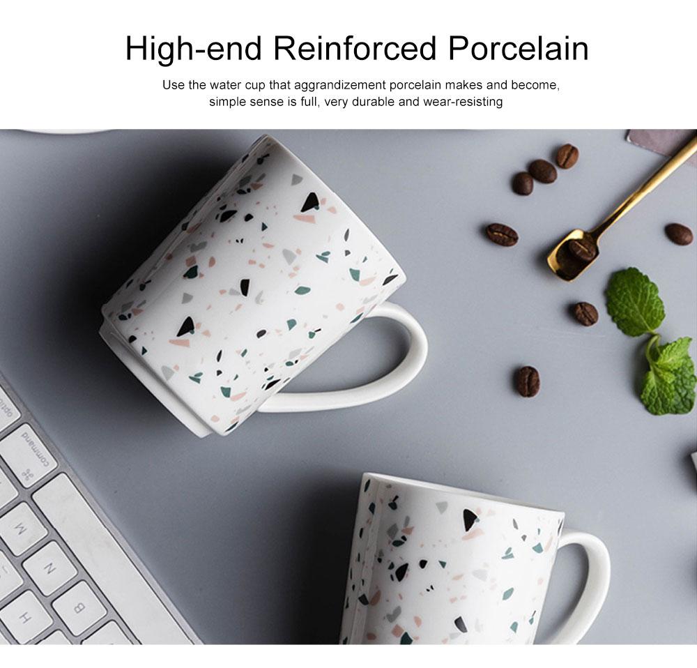 Nordic Celebrity Terrazzo Mug with Big Head, Household Coffee Mug Office Ceramic Water Mug 3