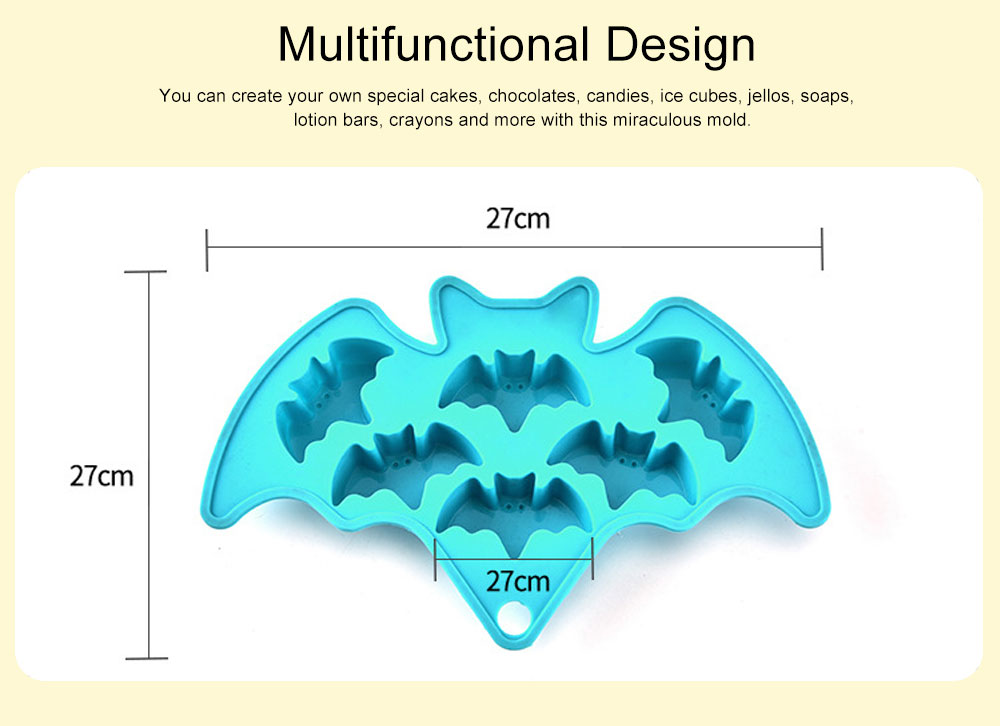 Creative Bat Ice Cube Silicone Iced Pudding Jelly Mould Bat Chocolate Mould Freeze Molding 2