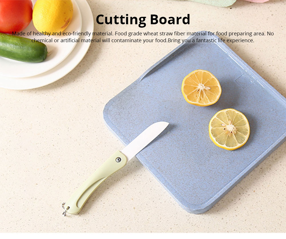 Non-Slip Anti-Bacterial Cutting Board, Wheat Straw Fiber Chopping Board for Meat Fruit and Vegetable 0