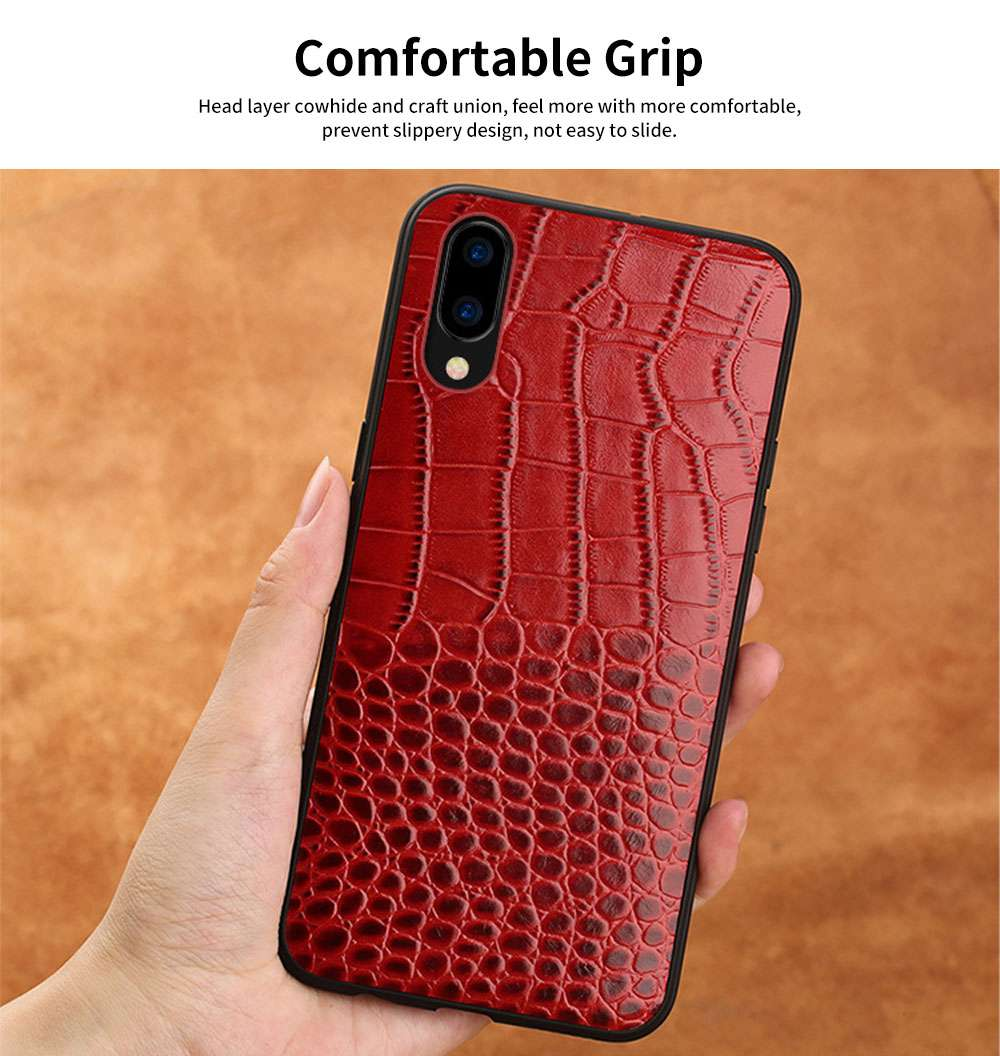 Classic Leather Phone Case for Vivo x21, Anti-fall Mobile Phone Case for X20 plus, Non-slip Full-pack Case for Vivo X23 5