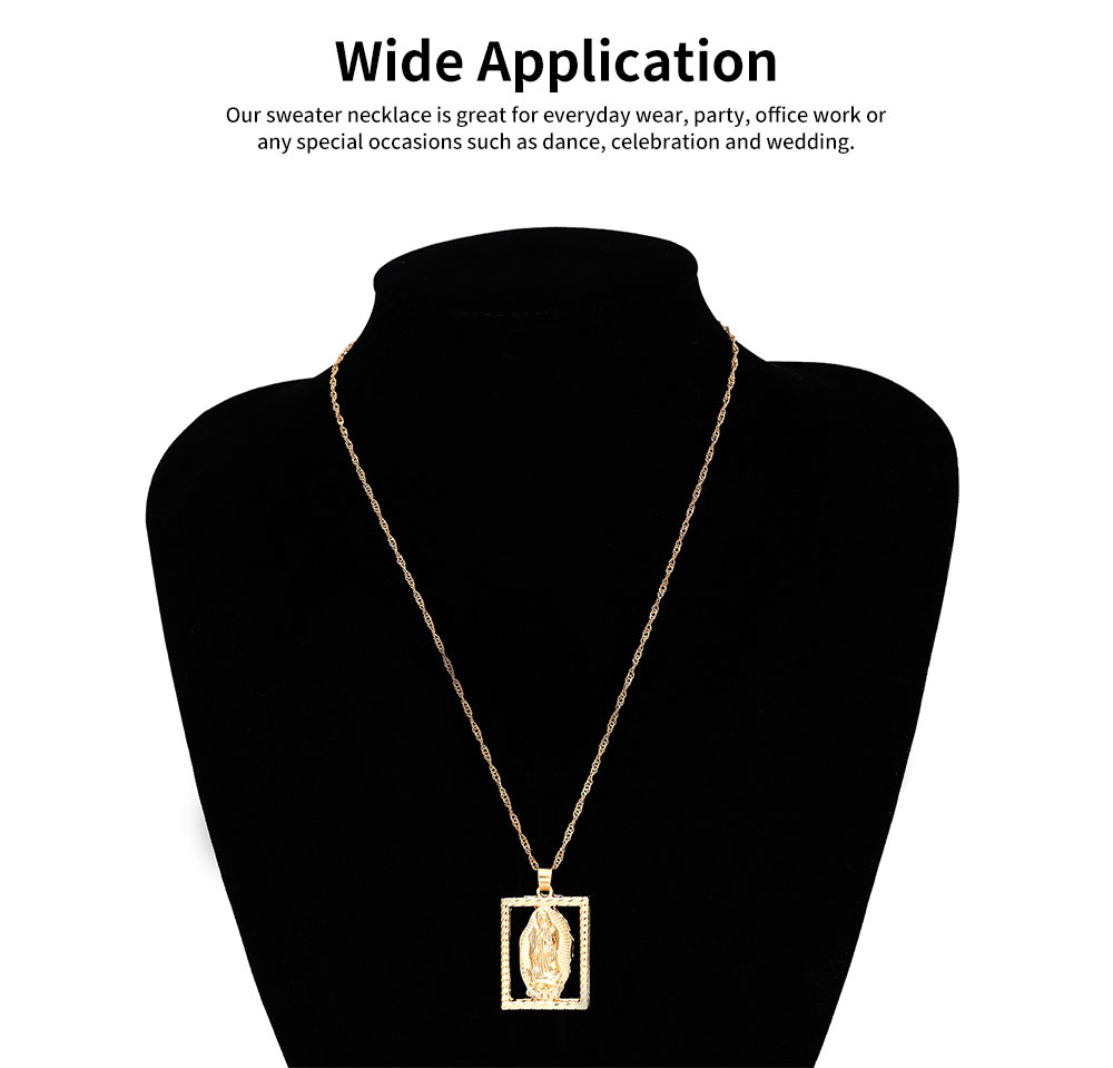Sweater Chain Simple Hollow Out Versatile Sweater Necklace Fashion Pendant Necklaces for Woman 1