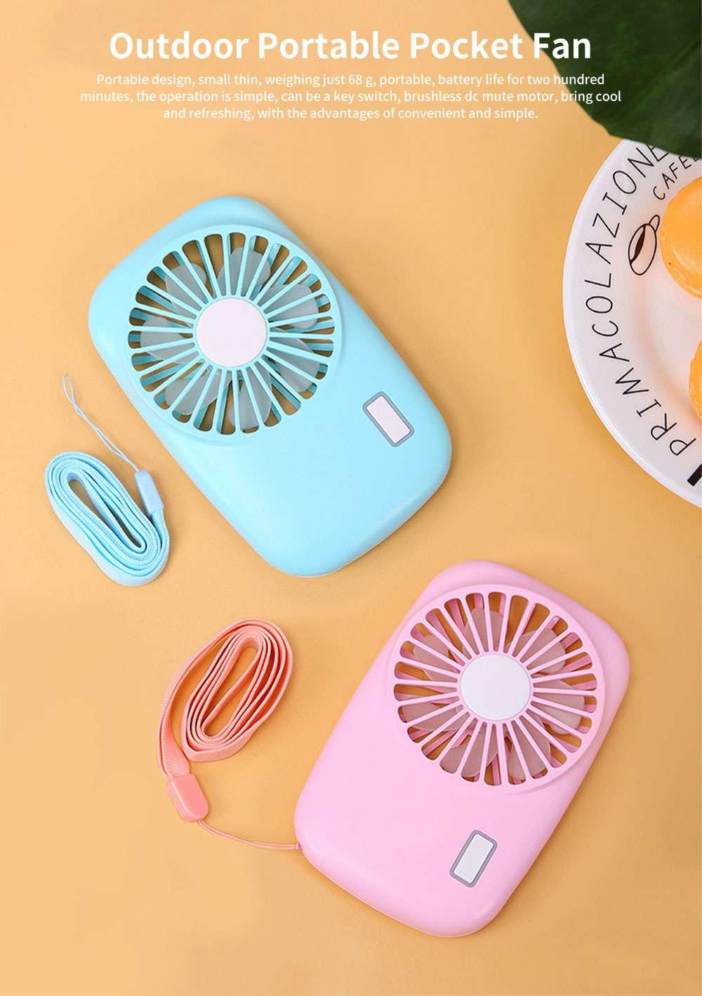 USB Rechargeable Camera Fan, Outdoor Portable Pocket Fan, Ultra-thin Handheld Mini Fan, Silent Compact Fan 0