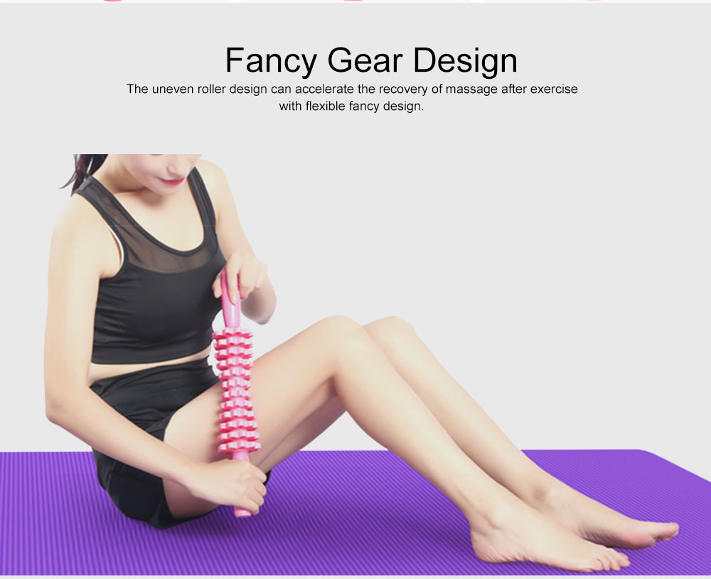 Foam Axis Yoga Stick for Muscle Relaxation, Yoga Mace Roller with Non-slip Handle, Fitness Lean Leg Roller 3