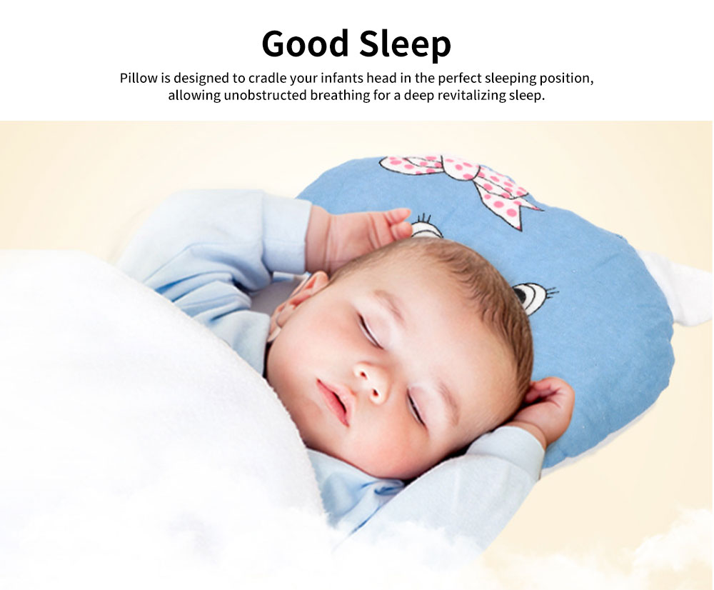 Baby Pillow Breathable Organic PP Cotton Newborn Head Shaping Pillow Flat Head Syndrome Prevention and Head Support Pillow 2