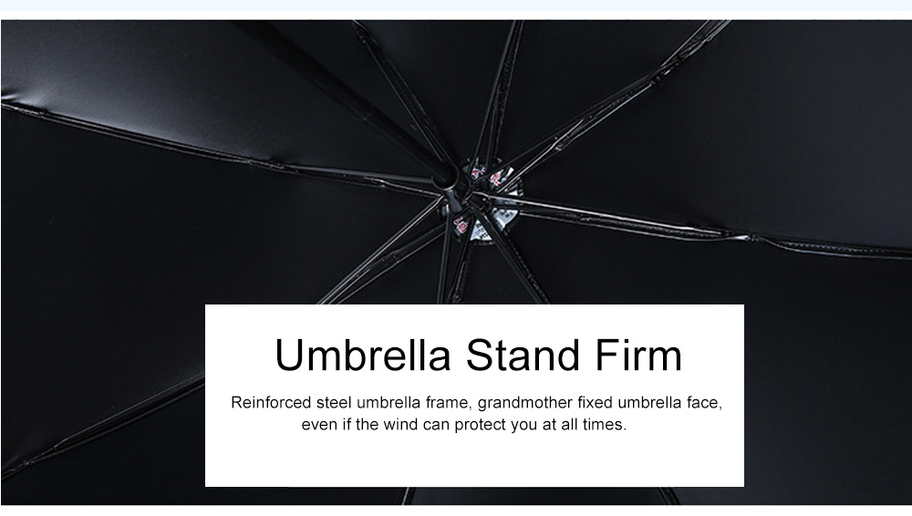 Lady's Outdoor Sun Umbrella with Triple Fold Sun Block, Multifunctional Umbrella with Lacquer Baking Handle 4