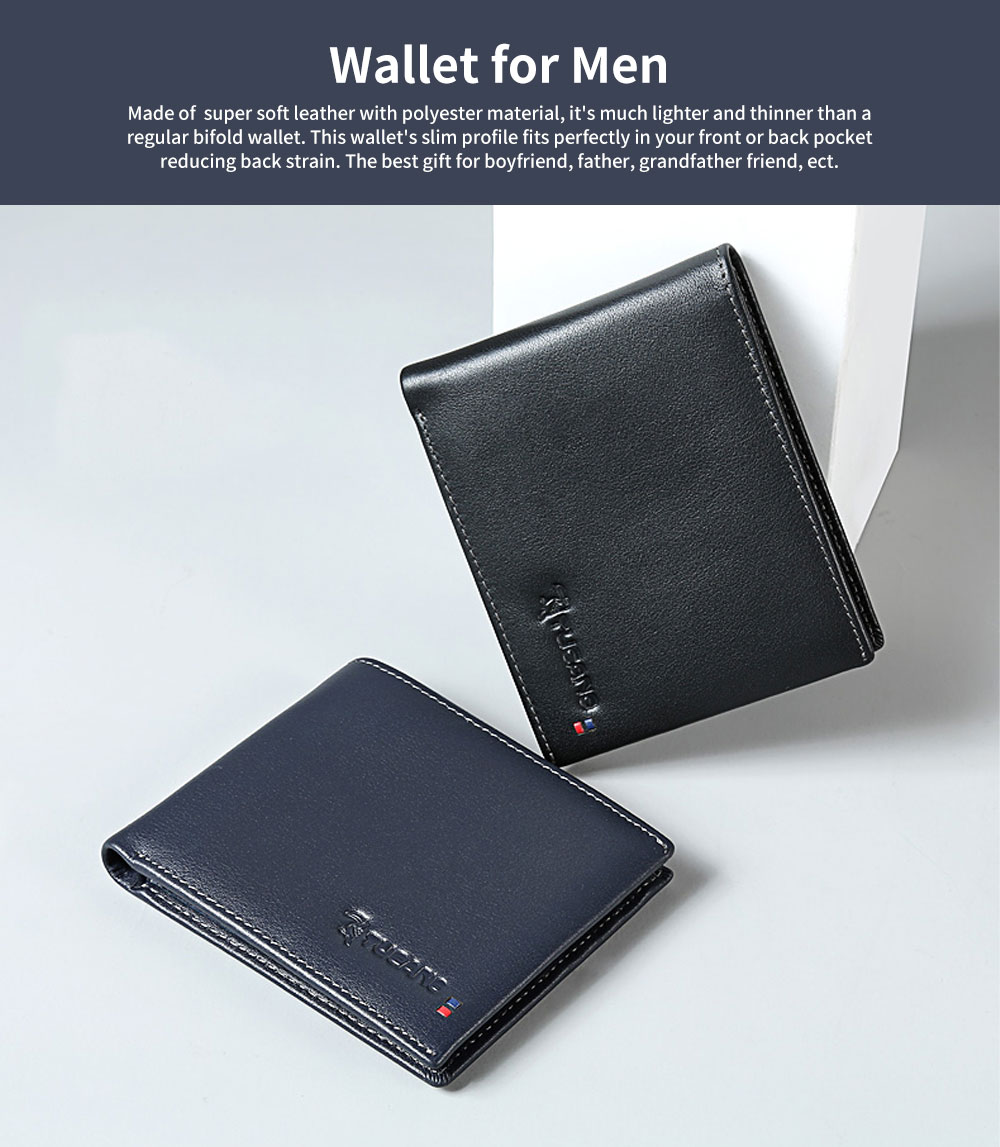Multi-layer Quality Genuine Leather Slim Wallets Bifold Vintage Money Clip Gifts for Male Men Boy 0