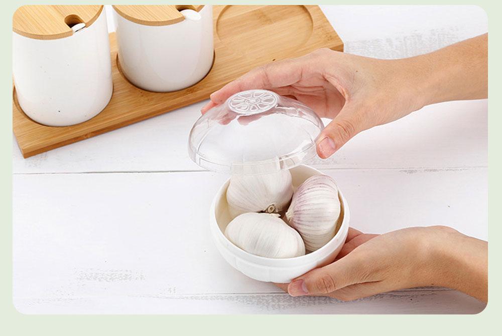 Mini Vegetable Sealed Box, Non-toxic Portable Plastic Crisper Set, Transparent Grape & Garlic Crisper Bowl 4
