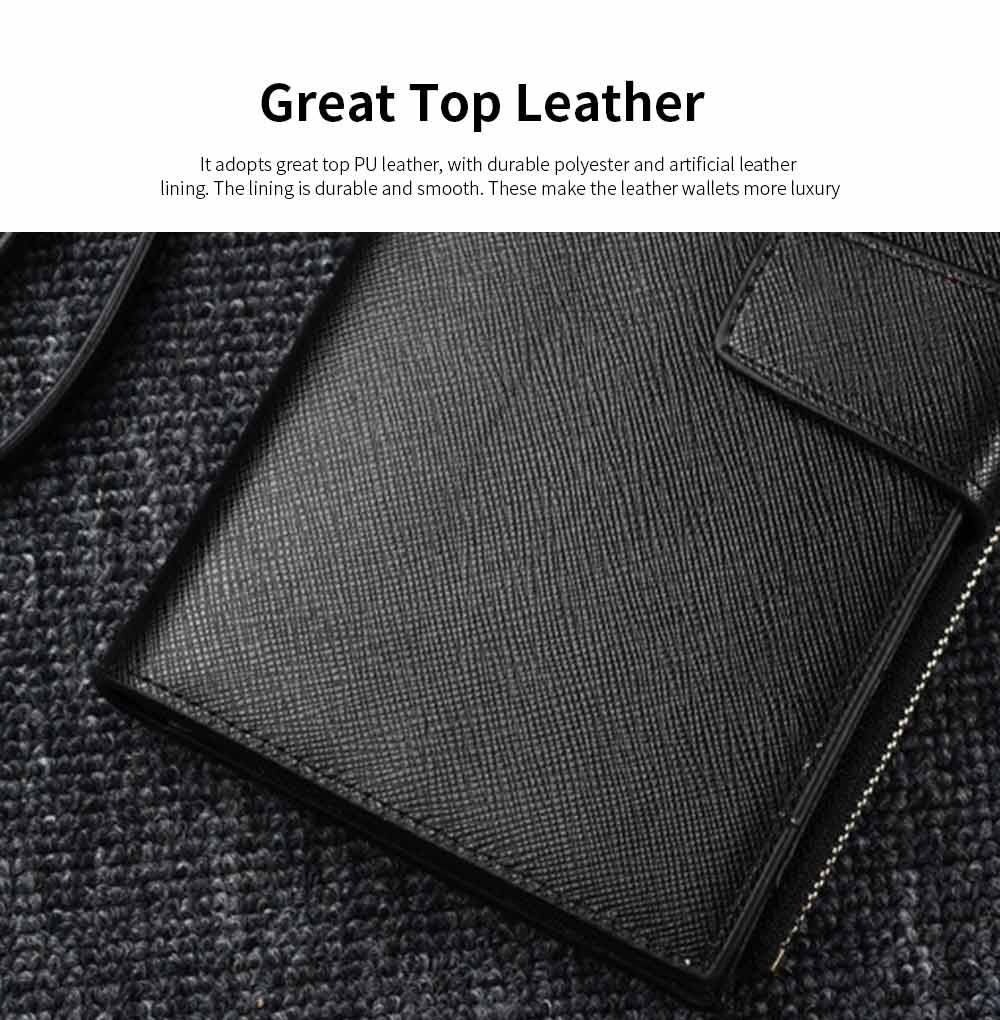 High-End Business Men's Handbags, Zipper Multifunctional Leather Clutch Wrist Bags 1