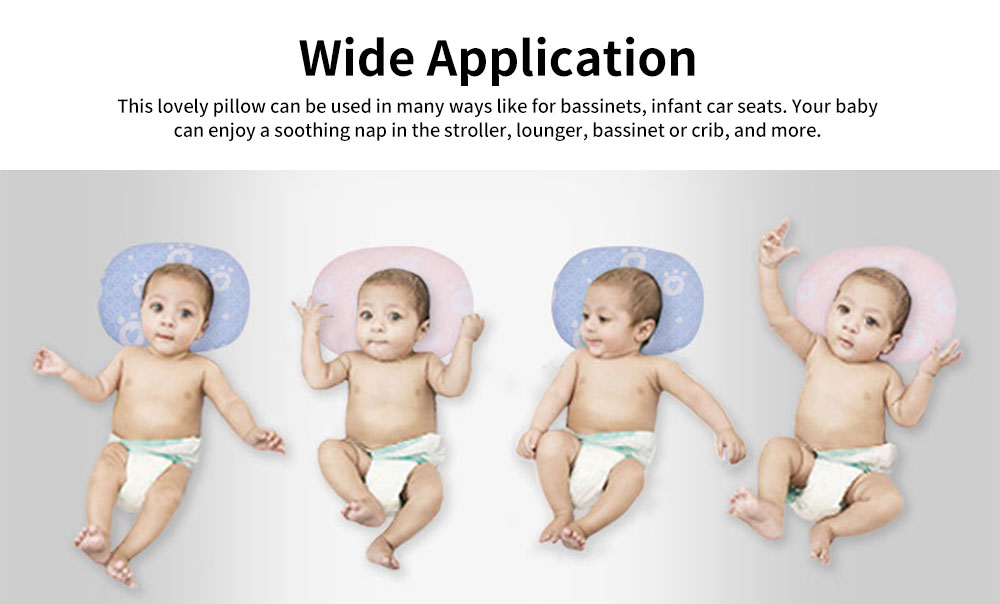 Newborn Baby Head Shaping Pillow Breathable Organic PP Cotton Baby Accessories Flat Head Syndrome Prevention and Head Support Pillow 5