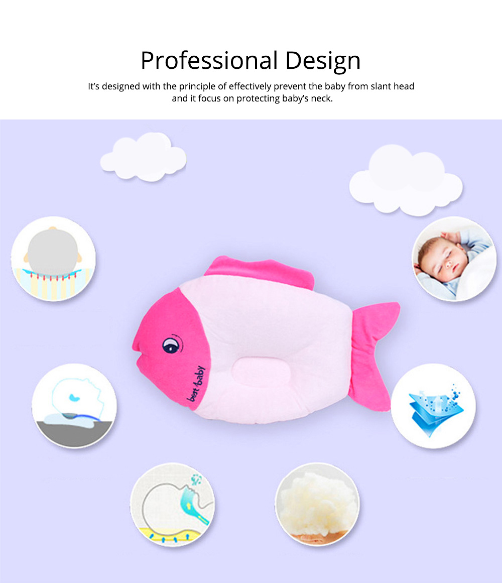 Fish-design Cotton Baby Pillow, Head-shaping Pillow for Preventing Plagiocephaly 2