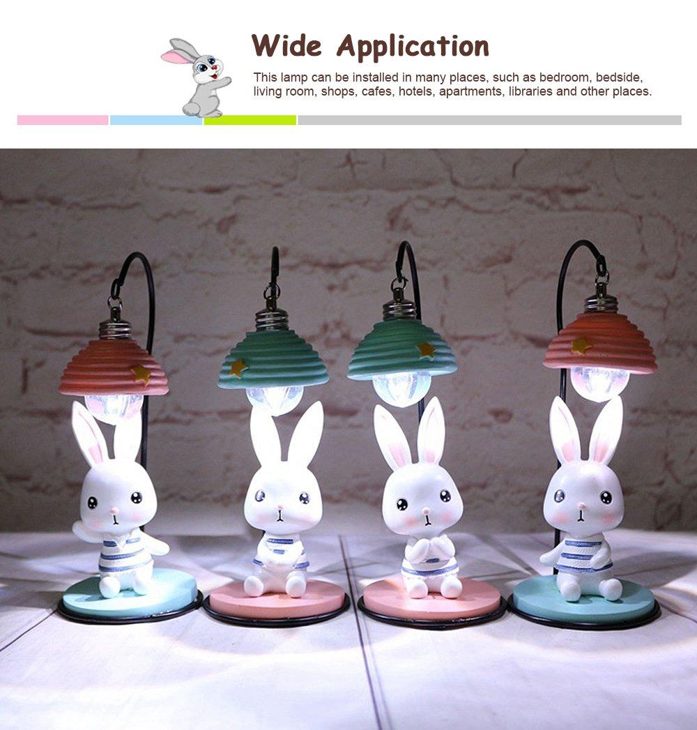 Cartoon Rabbit Night Light Resin Mini LED Night Lamp Home Decoration Creative Resin Ornaments 5