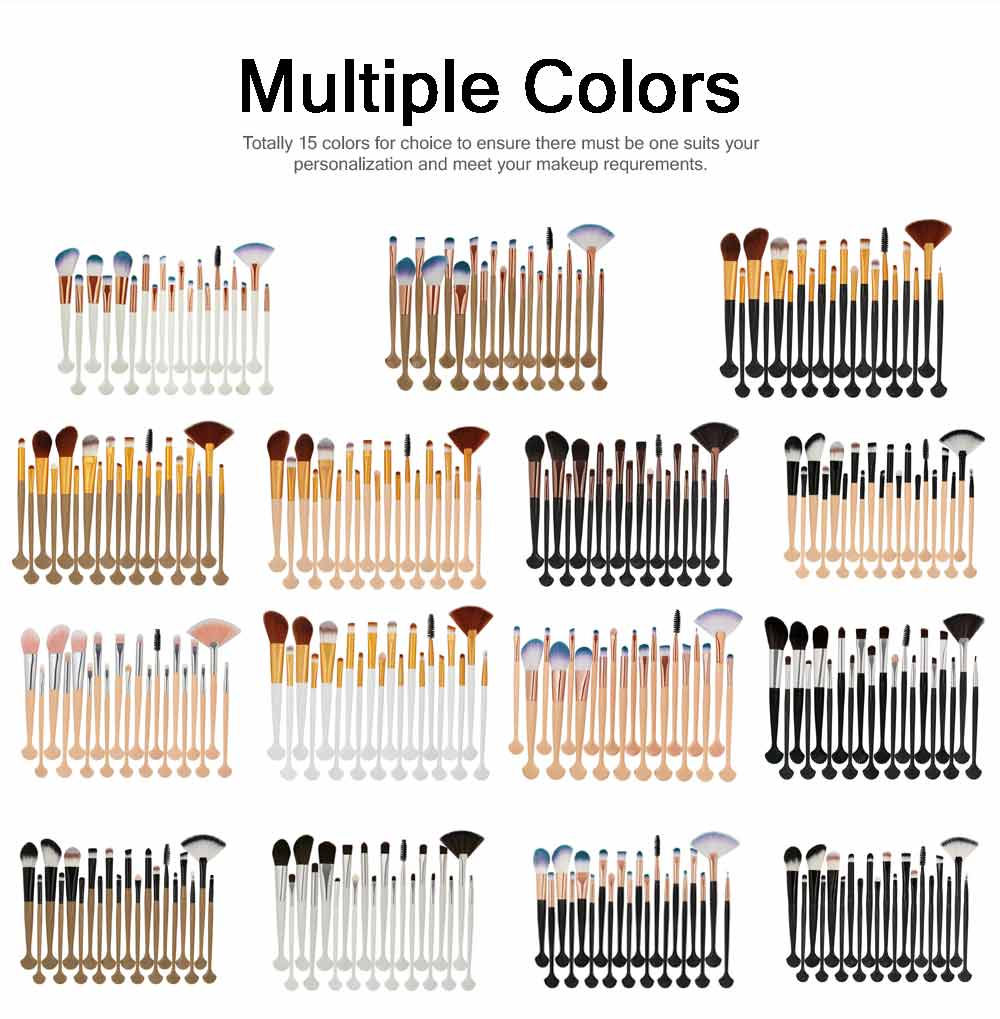 Complete Makeup Brushes Set for Professional Beauty Makeup Brushes 20 PCS Direct Makeup Tool 5